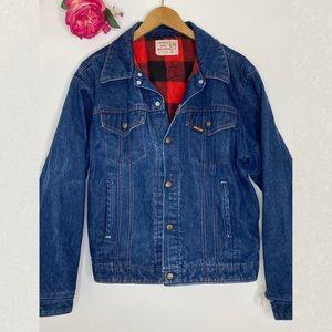 Vintage - Saddle King Flannel Lined Denim Jacket